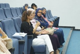 Deanship of Student Affairs organized an awareness day on the breast cancer in coordination with Tawam Hospital Breast Care Center