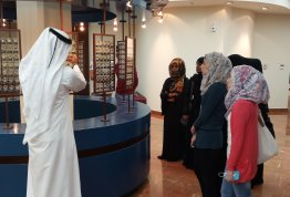 "students visit to ""Abu Dhabi Culture Center"