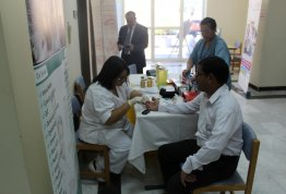 Effectiveness of health on the occasion of World Diabetes Day (Alain Campus)