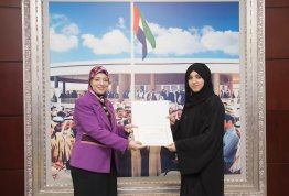 A student Visit to Emirates Center for Strategic Studies and Research/ UAE Federation Library (AD Campus)