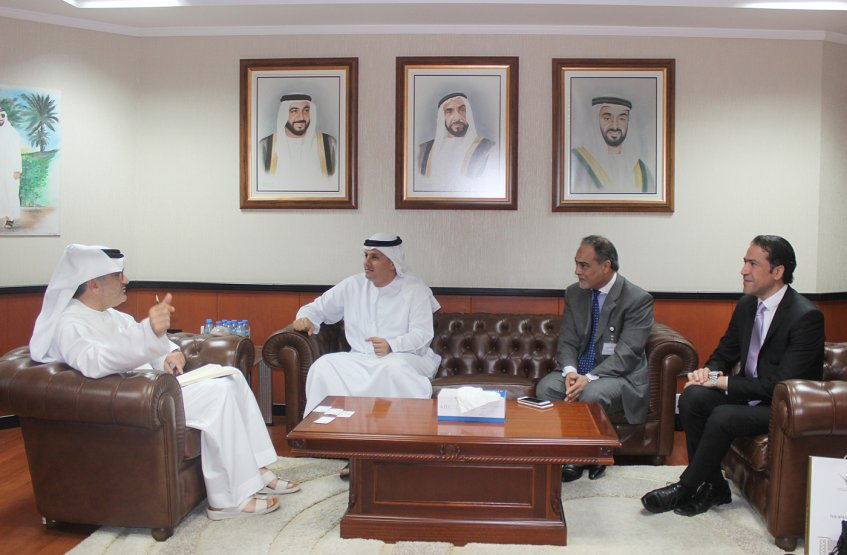 AAU Chancellor meets the CEO of Abu Dhabi Securities Market.