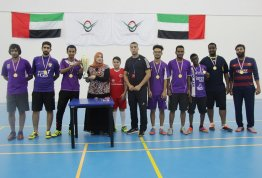 Coronation of the Emirates Team the winner of AAU Football Championship at Emirates Team x Manchester CityTeam and Al Ain Campus