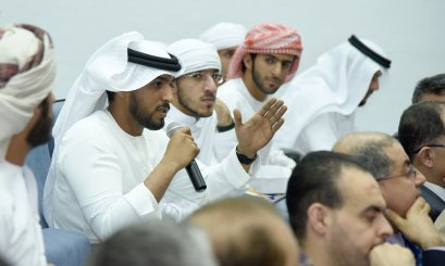AAU President meets with the Freshmen Students and emphasizes the need for communicating with the university's departments