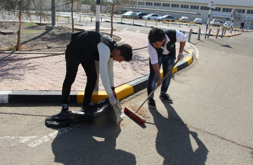 Cleaning Up Day - Al Ain Campus