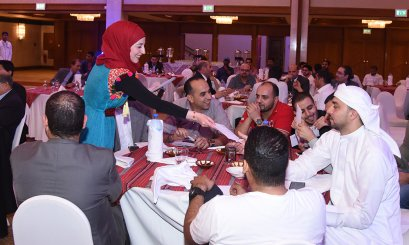 A pleasant atmosphere at the AAU Iftar Banquet