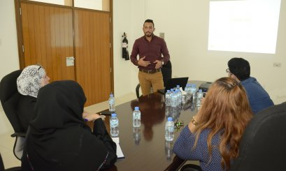 "A Workshop about ""Elsevier"" database organized by ""Khalifa"" Library"