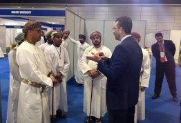 AAU presenting its academic programs in the Higher Education Exhibition
