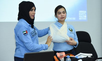 A Workshop about First Aid at the AAU in collaboration with AD Police