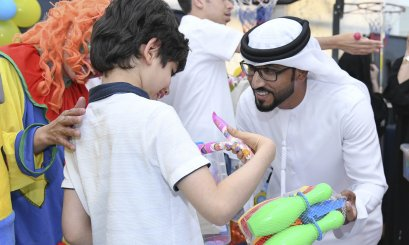 A student delegation from AAU visits Autistic Children on the occasion of Eid