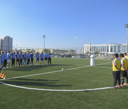 "A friendly match between academics and administrators in the opening of ""AlEtihad"""