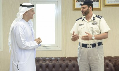 AAU Chancellor promotes cooperation aspects with Al Ain Police