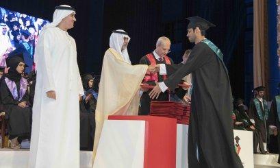 Nahyan Bin Mubarak attends the Year of Tolerance batch graduation at AAU