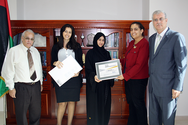 AAU Student First in Accounting on UAE Level