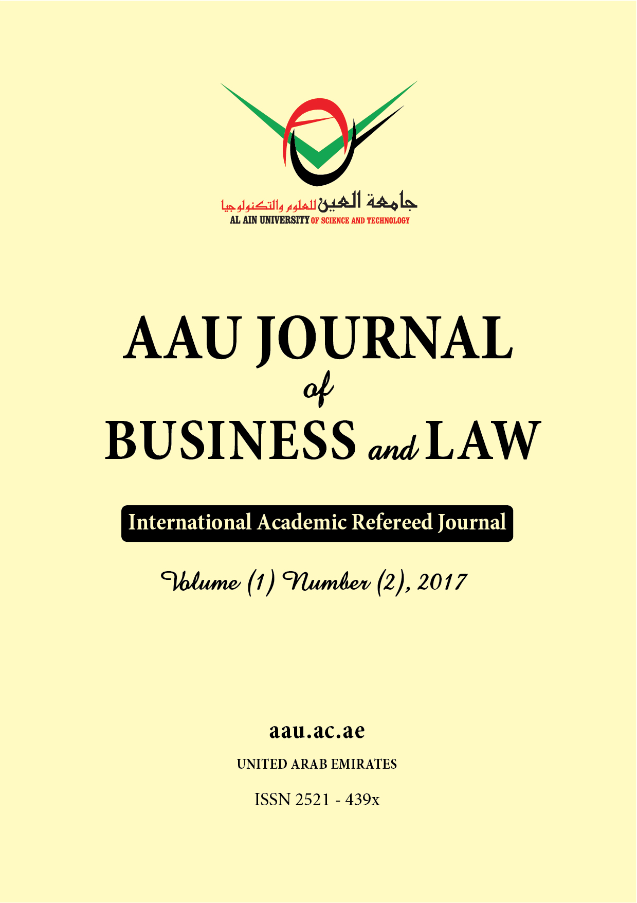 AAU JOURNAL of BUSINESS and LAW