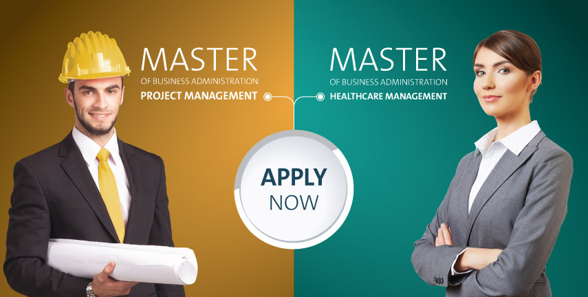 Master of business administration project management and master of business in healthcare management Al Ain University